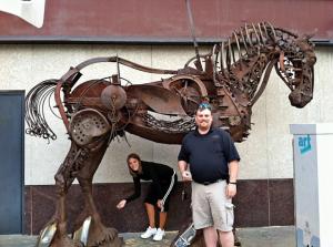 Scrap Metal Horse, Calgary, Alberta, Canada